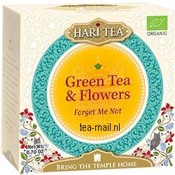 green tea & flowers     forget me not