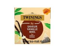 zwarte thee vanille honing  (piramidebuiltjes)
